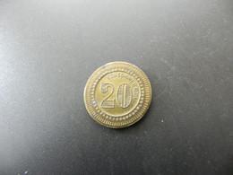 Jeton 20 Centimes à Consommer - Unclassified