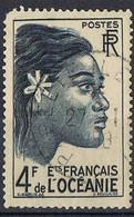 1948 - TERRITORI FRANCESI DELL'OCEANIA - FRENCH TERRITORIES OF OCEANIA / RAGAZZA TAHITIANA - TAHITI GIRL - USATO / USED. - Used Stamps
