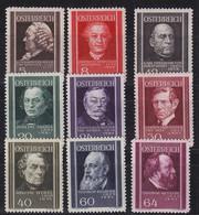 ÖSTERREICH AUSTRIA [1937] MiNr 0649-57 ( */mh ) - Gebruikt