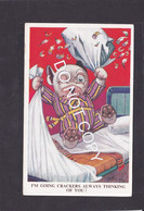 Dog Card  -  Bonzo  -  GE Studdy  -  I'm Going Crackers Always Thinking Of You !!.    Valentines Series.   (029). - Perros