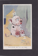 Dog Card  -  Bonzo  -  GE Studdy  -  This Show Is'nt All Bad !!.    Valentines Series.   (030). - Perros