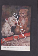 Dog Card  -  Bonzo  -  GE Studdy  -  Now We Understand Each Other !!.    Valentines Series.   (031). - Perros