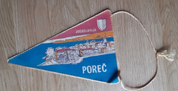 POREC Water Skiing Coat Of Arms  Vintage Pennant Croatia Ex Yugoslavia 13x21cm - Unclassified