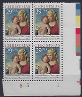 USA  1993  Christmas  (o) Mi.2405  A  (Pl. Nr.535 1) - Plate Blocks & Sheetlets