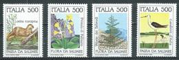Italie YT N°1658/1661 Sauvegarde De La Nature Neuf ** - 1981-90:  Nuovi