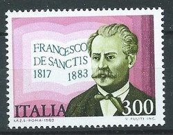 Italie YT N°1592 Francesco De Sanctis Neuf ** - 1981-90:  Nuovi