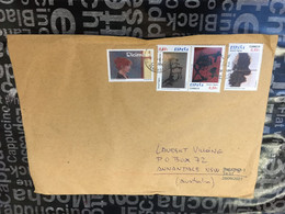 (4 A 49 - Large) Spain Cover (posted To Australia During COVID-19 Pandemic) 4 Art Stamps - 2011-... Lettere