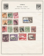3329 CYPRUS: KEVII & KGV Collection On Album Page. Unchecked. - Cyprus (...-1960)