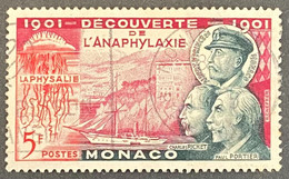 MCO0395U -  50th Anniversary Of The Discovery Of Anaphylaxis - 10 C Used Stamp - Monaco - 1953 - Gebruikt