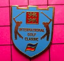 412D Pin's Pins / Beau Et Rare / THEME : SPORTS / BLASON NORMANDIE INTERNATIONAL GOLF CLASSIC - Golf
