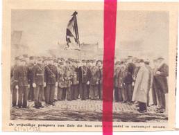 Orig. Knipsel Coupure Tijdschrift Magazine - Zele - Nieuw Vaandel Voor Brandweer, Pompiers - 1935 - Sin Clasificación