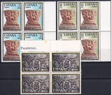 SPANIEN 1974 Mi-Nr. 2112/14 Viererblocks ** MNH - 1971-80 Nuovi