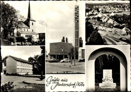 CPA Junkersdorf Lindenthal Köln Am Rhein, Katholische Kirche, Kirche St. Pankratius, Kriegerdenkmal - Andere