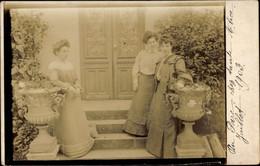 CPA Dijon Côte D'Or, 26 Cours Du Parc, Portraitfoto, Drei Frauen Vor Eingangstür - Other Municipalities
