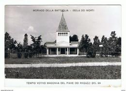 MORIAGO  DELLA  BATTAGLIA (TV):  ISOLA  DEI  MORTI  -  TEMPIO  VOTIVO  -  CENNO  DI  PIEGA  -  FOTO  -  FG - Oorlogsmonumenten