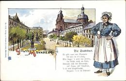 Artiste CPA Mannheim In Bade Württemberg, Gedicht Die Stadtbas, Frau In Tracht - Altri
