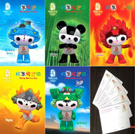 China 2008 Beijing Olympic Mascots FUWA 3D Pre-stamped Postcards - Verano 2008: Pékin