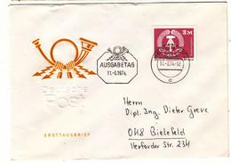 Allemagne - République Démocratique - Lettre FDC De 1974 - Oblit Berlin - Valeur 12 Euros - Briefe U. Dokumente