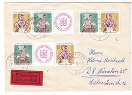 Allemagne - République Démocratique - Lettre Exprès De 1977 - Oblit Leipzig - Costumes - Bière - - Briefe U. Dokumente