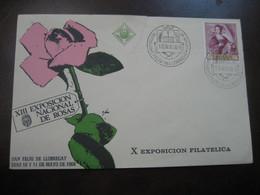 SANT FELIU DE LLOBREGAT 1969 Expo Nacional De Rosas Cancel Pink Damaged Cover SPAIN Rosa Rosas Rose Roses Flora Flower - Rose