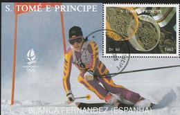 S. TOME & PRINCIPE BLOC Yv 135** J.O. ALBERTVILLE 92 - Invierno 1992: Albertville