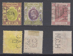 China Hong Kong Mi# 35 + 67 + 71 Used Perfin - Used Stamps
