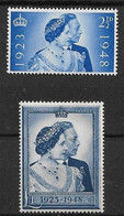 GREAT BRITAIN 1948 SILVER WEDDING SET VERY LIGHTLY MOUNTED MINT Cat £40+ - Unused Stamps