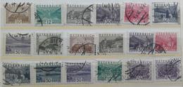 1932 / Landscapes - 15 Stamps + 3 Perfins - Gebruikt