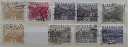 1932 / Landscapes - 6 Stamps + 3 Perfins - Gebruikt