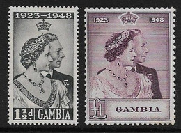 GAMBIA 1948 SILVER WEDDING SET MOUNTED MINT Cat £21+ - Gambia (...-1964)