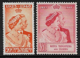 KENYA,UGANDA AND TANGANYIKA 1948 SILVER WEDDING SET LIGHTLY MOUNTED MINT Cat £51 - Kenya, Uganda & Tanganyika