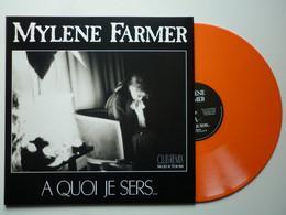 Mylene Farmer Maxi 45Tours Vinyle A Quoi Je Sers Exclusivité Couleur Orange - Non Classificati