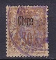 CHINE - 30 C. Sage Oblitéré FAUX - Oblitération Administrative - Used Stamps