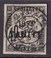 TAHITI - 40 C. Taxe De 1893 Oblitéré FAUX - Used Stamps