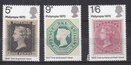 P2146 - GRANDE BRETAGNE Yv N°599/601 ** PHILIMPIA 70 - Unused Stamps