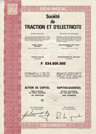 Titre Ancien  - Société De Traction Et D'Electricité  - Titre De 1971 - - Elettricità & Gas