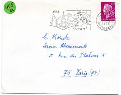 SAVOIE / HAUTE Dépt N° 74 = MEGEVE 1968 =  FLAMME Codée = SECAP Illustrée ' ETE - HIVER ' - Mechanical Postmarks (Advertisement)