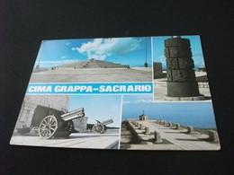CIMA GRAPPA SACRARIO CANNONI  VEDUTE STORIA POSTALE FRANCOBOLLO ITALIA - Oorlogsbegraafplaatsen