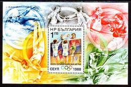BULGARIA 1988 Olympic Games Block MNH / **.  Michel Block 180A - Ungebraucht