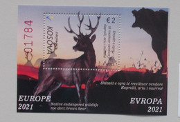 Kosovo 2021 Cept PF Block +stamps - 2021