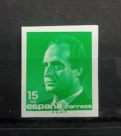 ESPAÑA.  EDIFIL  3004s  15 PTAS VERDE ESMERALDA S.M REY JUAN CARLOS I SIN DENTAR. - 1981-90 Nuovi