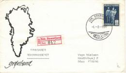 Sdr. Stromfjord 1981 - Hubschrauber-Post Reko - Eskimo - Umriss-Karte - Briefe U. Dokumente