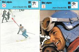 GF1917 - FICHES RENCONTRE - EMILE ALLAIS - HENRI REILLER - JEAN CLAUDE KILLY - Sport Invernali