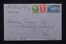 CUBA - Enveloppe De Habana Pour La France Par Avion Via New York Et S/S Queen Mary - L 107993 - Covers & Documents