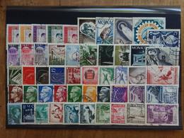 MONACO - Lotto 50 Francobolli Differenti Anni '40/'50 - Timbrati + Spese Postali - Gebruikt