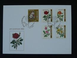 FDC Roses Série Pro Juventute 2002 Suisse Ref 101124 - Rose