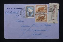 ARGENTINE - Enveloppe En Recommandé De Buenos Aires Pour  Paris Par Avion ( Cie Condor ) En 1938 - L 107996 - Covers & Documents