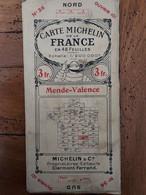 CARTE MICHELIN MENDE VALENCE  N°36 AU 1/200 000e - Carte Stradali