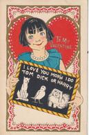 To My Valentine  I Love You Mor'n I Do Tom Dick Or Harry - Dia De Los Amorados