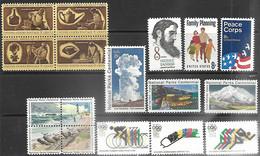 US 1972  Sc#1446-62 Includes National Parks Set, Olympics Set, & Bicentennial Block  MNH**  Face $1.22 - Ungebraucht